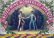 1890s Framed Prints - United Mine-workers Of America Framed Print by Everett