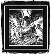 United States Bw Print by Angelina Vick