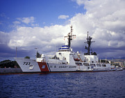 Enforcement Art - United States Coast Guard Cutter Rush by Michael Wood