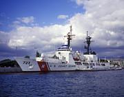 United States Coast Guard Cutter Rush Print by Michael Wood