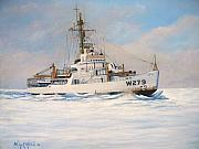 Coast Guard Painting Posters - United States Coast Guard Icebreaker Eastwind Poster by William H RaVell III