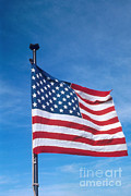 Pusan Prints - United States Flag Print by Photo Researchers, Inc.