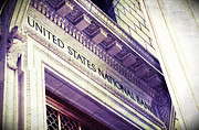 Buildings Art Posters - United States National Bank Poster by Cathie Tyler
