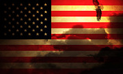 4th Of July Metal Prints - United States of America . Land of The Free Metal Print by Wingsdomain Art and Photography