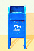 Us Mail Prints - United States Postal Service Mail Box . Snail Mail Print by Wingsdomain Art and Photography