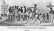 Slave Trade Framed Prints - United States Slave Trade Framed Print by Photo Researchers