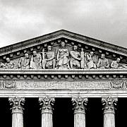 Supreme Court Framed Prints - United States Supreme Court in black and white Framed Print by Carol M Highsmith