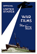 War Propaganda Metal Prints - United States War Films Now Being Shown Metal Print by War Is Hell Store