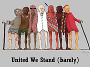 R  Allen Swezey Framed Prints - United We Stand Framed Print by R  Allen Swezey