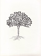 Tree Roots Painting Posters - Unity tree Poster by Rua Francis