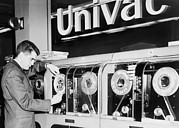 Computers Prints - Univac Was The First Computer Designed Print by Everett