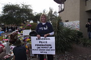 Gabby Giffords Posters - Universal Peace Federation support of Congresswoman Gabrielle Giffords Poster by Jayne Kerr Proano