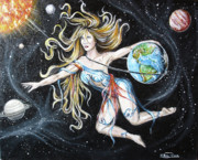 The Universe Paintings - Universal Queen by Rana King