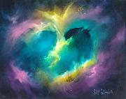 Celestial Painting Originals - Universe of the Heart by Sally Seago