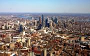 Duncan Pearson Prints - University City Philadelphia Skyline Aerial Print by Duncan Pearson