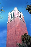 Florida Gators Framed Prints - University of Florida Bell Tower Framed Print by Lynnette Johns