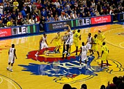 University Of Michigan Photos - University of Kansas Cole Aldrich by Keith Stokes