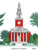Famous University Buildings Drawings Posters - University of Kentucky Poster by Frederic Kohli