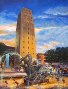 University Of Michigan Art - University of Michigan Bell Tower by Katherine Larson