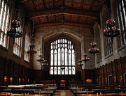 University Of Michigan Photos - University of Michigan Library by Retouch The Past