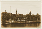 Universities Digital Art - University of Tampa - Old Postcard Framing by Carol Groenen