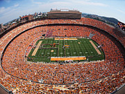 Overhead Posters - University of Tennessee Neyland Stadium Poster by University of Tennessee Athletics