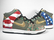 Nike Mixed Media - UNiverSoles x Nike x U.S. Marines by Joseph Boyd