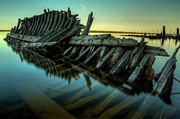 Nightfall Prints - Unknown Shipwreck Print by Jakub Sisak