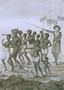 Slavery Prints - Unloading Of Enslaved Africans In Dutch Print by Everett