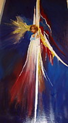 Heavenly Body Painting Posters - Unnamed Angel Poster by Jo Ann Nelson