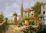 Steps Paintings - Uno Sguardo Sul Mare by Guido Borelli