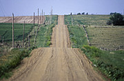 Hillsides Photos - Unpaved Country Road in South Dakota by Will & Deni McIntyre