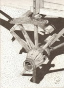 Wheel Drawings - Unspoken by Pat Price