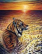 The Tiger Paintings - Unsure by Pravit Rojawat