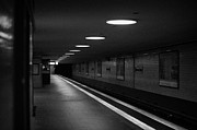 Bahn Prints - Unter Der Linden ghost station u-bahn station Berlin Germany Print by Joe Fox