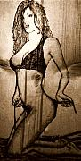Women Pyrography Originals - Untied by Mark Padgett