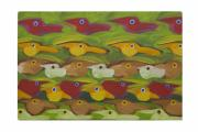 Flock Of Birds Painting Metal Prints - Untitled - 145-10 Metal Print by Rogerio Dias