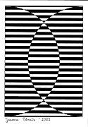Op Art Drawings Posters - Untitled 1 Poster by Joanna Potratz