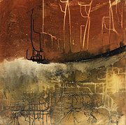 Rust Mixed Media Metal Prints - Untitled 120705 Metal Print by Michel  Keck