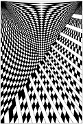 Optical Art Drawings Posters - Untitled 13 Poster by Joanna Potratz
