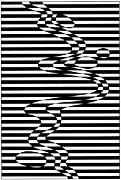 Op Art Drawings Posters - Untitled 14 Poster by Joanna Potratz