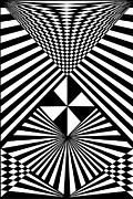 Optical Art Drawings Posters - Untitled 15 Poster by Joanna Potratz