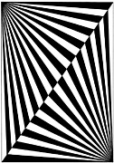 Op Art Drawings Posters - Untitled 18 Poster by Joanna Potratz