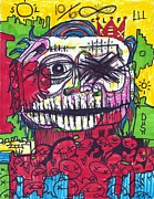 Neo Expressionism Framed Prints - Untitled 2012 Framed Print by Robert Wolverton Jr