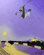 Snowboarding Paintings - Untitled 4 by Matthew Stennett