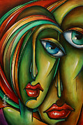 Couples Painting Prints - Untitled 6 Print by Michael Lang