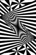 Op Art Drawings Posters - Untitled 8 Poster by Joanna Potratz