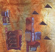 Triangles Tapestries - Textiles - Untitled Abstract by Judy Sauer