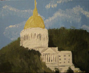 Dome Painting Originals - Untitled  by Alexandra Mallory