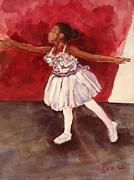 Ballet Dancers Paintings - Untitled by Amira Najah Whitfield